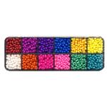 Tsehhi klaaspärlite valikkarp, erksavärvilised kondikesed