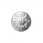 Metallilaadsest plastikust, reljeefse mustriga, kannaga nööp 23mm, 36L