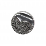 Plastic metallic button with shank 18mm (28L)
