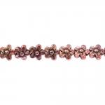 Lilleõiekujuline, graveeritud mustriga riputis/helmes CCB plastikust 10x6mm