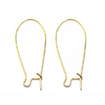 Earring Ear Wires, Closable; 2pc / 33 x 14mm