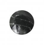 Must, sileda pinnaga, läbipaistvate triipudega, kannaga nööp 22mm, 34L