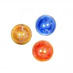 Naturaalsed teokarbist nööbid, sädeleva värvilise glasuuriga, kahe auguga 20mm, 32L
