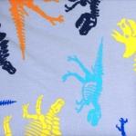 Puuvillane trikookangas, dinosaurustega 123.830