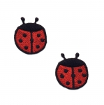 Triigitav Aplikatsioon; Lepatriinud / Embroidered Iron-On Patch; Ladybirds / 2,5cm