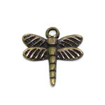 Metal Dragonfly Charm / 16,5 x 16 x 1,5mm