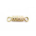 Cylindrical Turnbuckle Clasp with Ridge Pattern / 8 x 4mm