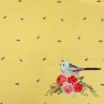 Tihaste ja lillekestega, veniv puuvillasegu kangas 11939, 150cm, Stenzo textiles