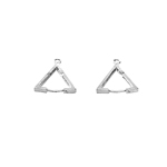 Ear Wire Earring Hinge Triangle; 2pc / 17mm
