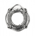 Päästerõngakujuline riputis `Life Ring`/ Ornamental Jewelery Spacer with Dotted Pattern / 22x24x2mm