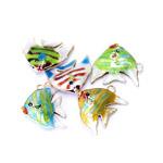 Värvilised, maalitud kalakujulised lapikud cloisonne metallhelmed 30x25x6mm