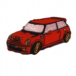 Embroidered Iron-On Patch; Mini Cooper / 9,5 x 5cm