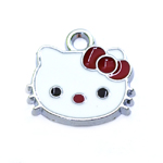 Metal `Hello Kitty` Charm / 20 x 20mm
