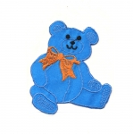 Triigitav Aplikatsioon; Mõmmi lipsuga / Embroidered Iron-On Patch; Teddy Bear with Bow / 8 x 7cm