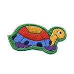 Embroidered Iron-On Patch; Tortoise / 11 x 9cm