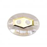 Ovaalne kristallilaadne akrüülnööp 21x15mm, 40L