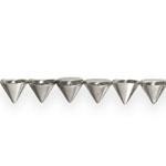 Metallilaadsed needikujulised plastikhelmed pikuti auguga 8mm
