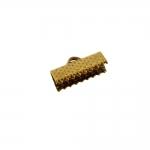 Otsakinnis, paelaotsik (nahkpaela kinnitus)/ Cord End C-Crimp, Dimple Pattern/ 16mm