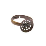Sõrmusetoorik sõelataolise kettaga / Perforated Round Finger Ring Base / 12mm