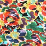 Maalitud lilledega, trikotaažkangas, 160cm, 36268