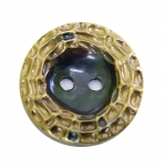 Metallilaadne, pronksjas, reljeefse mustriga, nööp ø38 mm, suurus: 60L