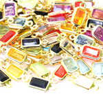 Plastic Rectangular Charm; 10pc / 15 x 6mm