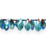 Tilgakujulised tahulised  kirjud klaashelmed 16x9mm