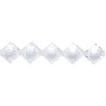 Pärl-pärlis tahulised rombikujulised klaasjad akrüülhelmed 14mm