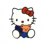 Soft 3D Sticker; Hello Kitty with Teddy Bear / 7,5 x 6,5cm