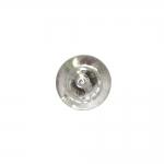 Plastikkristalliga, metallilaadsest plastikust, kannaga pidulik nööp 11mm, 18L