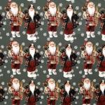 Päkapikkudega jõuluteemaline trikookangas, 150cm, Stenzo, Art.4831