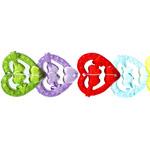 Värvisegu akrüülist südamekujuline helmes 27x5mm