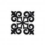Triigitav ruudukujuline ornament 9cm