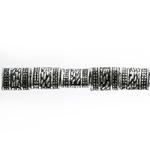 Torujas, lapik plasthelmed antiikse reljeefse mustriga metalse tooniga 9x7mm