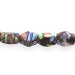 Kirjud mustrilised ovaalsed tahulised millefiori pärlid 17x12mm