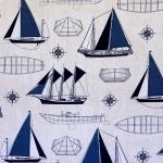 Purjekatega, mereteemaline teflontöötlusega kangas (laudlina õmblemiseks), Art.2.171031.1016.475