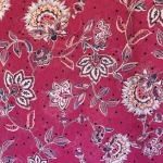 Lilleornamendiga läbikumav kleidikangas, kunstsiid, šifoon, 145cm, PL1759