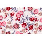 Puuvillane lillemustritega diagonaalkant / 30mm