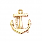 Plastic Boat Anchor Charm / 29 x 26 x 5mm