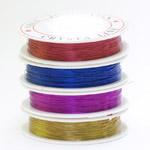 Värviline vasktraat põimimiseks, ø0,3 mm; 30 m