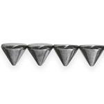 Metallilaadsed needikujulised plastikhelmed pikuti auguga 12mm