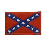 Embroidered Iron-On Patch; Confederate Flag / 7 x 4,5cm