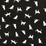 Kassidega puuvillane kangas (Cotton poplin print, cats), 145cm, KC0347