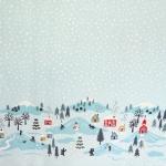 Talvise ääremustriga puuvillane kangas, sarjast Lewis & Irene, 110cm, D41