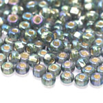 Czech Rocaille silverline beads, Seed Beads, square hole, Nr.2 (5.8-6.3 mm), Preciosa