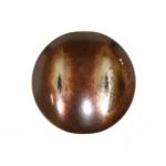 Metalli läikega, kahe kumerusega, pidulik, süvistatud kannaga nööp 38mm, 60L
