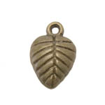 Metal Leaf Charm / 16 x 11mm