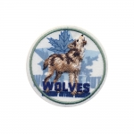 Triigitav Aplikatsioon; Uluv hunt `Wolves`/ Embroidered Iron-On Patch; Dignified Wolf / 6,5cm
