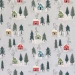 Lumised majad, kuused, puuvillane kangas, sarjast Lewis & Irene, 110cm, C36