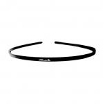 Peenike minimalistlik, läikivast plastikust peavõru toorik 14x12cmx5mm